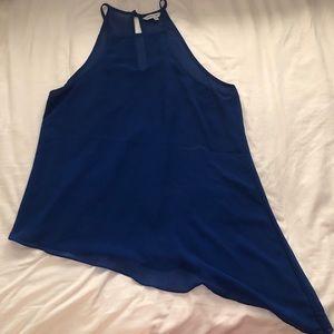 Asymmetrical royal blue top
